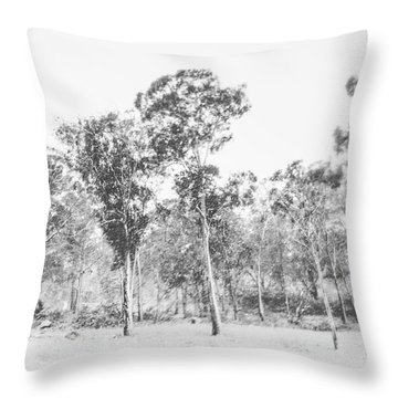 In Gusts Of A Snowstorm Throw Pillow
