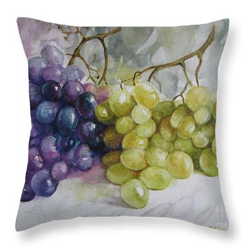 Throw Pillow featuring the painting In Harmony by Elena Oleniuc