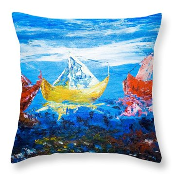 Throw Pillow featuring the painting In Harmony by Piety Dsilva