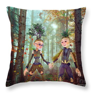 Throw Pillow featuring the digital art In Harmony With Nature by Jutta Maria Pusl