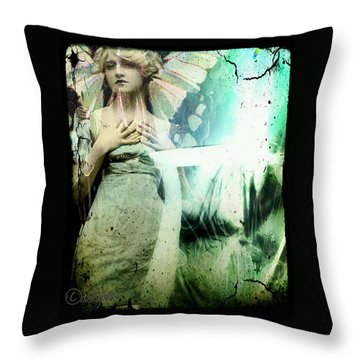 In Her Dreams She Could Fly Unfettered Throw Pillow