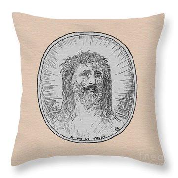 In Him We Trust Throw Pillow
