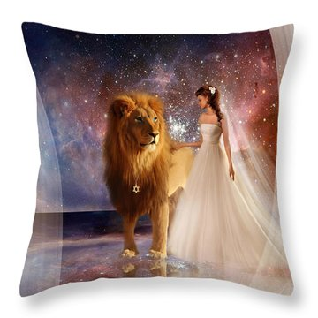 In His Presence  With Title Throw Pillow