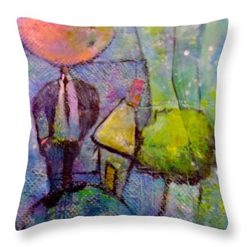 In His World Throw Pillow