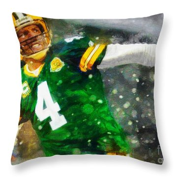 In Honor Of Number 4 The Living Legend Throw Pillow
