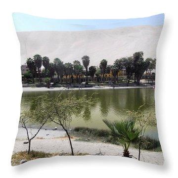 Huacachina Desert Oasis Throw Pillow
