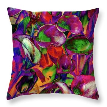 In Living Color Throw Pillow