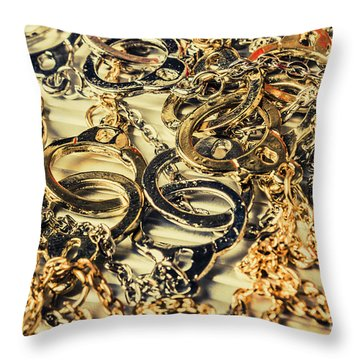 In Locks And Chains Throw Pillow