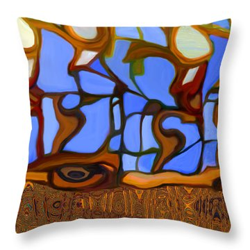 In Looking Out Throw Pillow