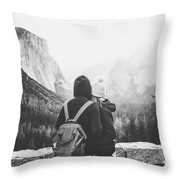 Yosemite Love Throw Pillow by JR Photography