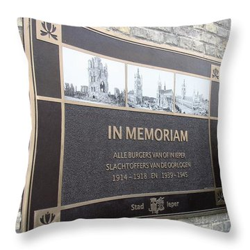 In Memoriam - Ypres Throw Pillow by Travel Pics