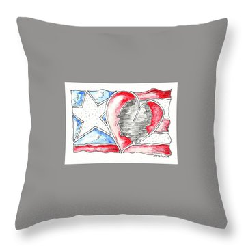 In Memory And Honor Throw Pillow