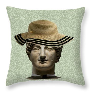 In Memory Of Beautiful Women Ever Lived Throw Pillow