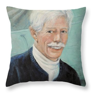 In Memory Of Uncle Bud Throw Pillow by Donna Tucker