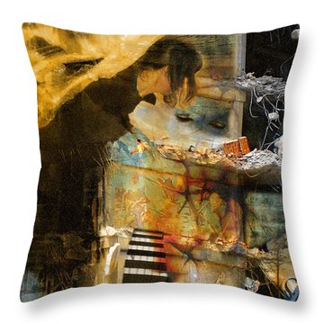 Crumble-metamorphosis Begins Throw Pillow