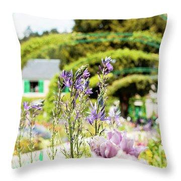 In Monet's Garden Throw Pillow