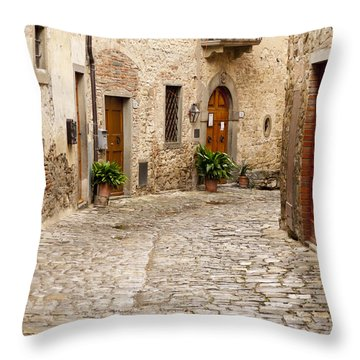 In Montefioralle Throw Pillow by Rae Tucker
