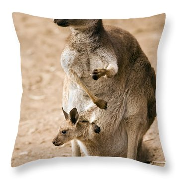 In  Mother's Care Throw Pillow by Mike  Dawson