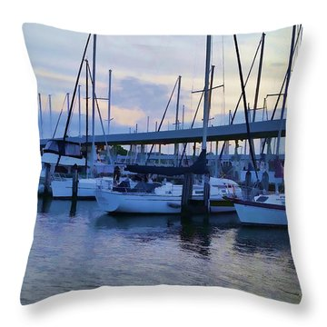 In My Dreams Sailboats Throw Pillow