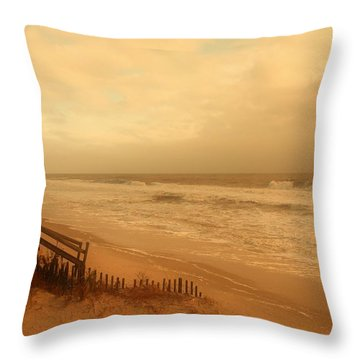 In My Dreams The Ocean Sings - Jersey Shore Throw Pillow