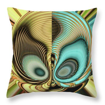 Throw Pillow featuring the digital art In My Head by Wendy J St Christopher