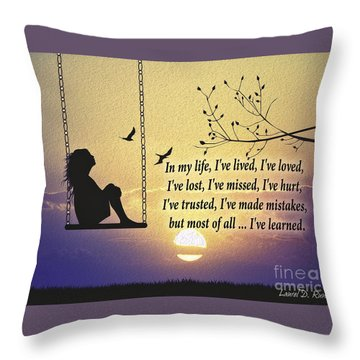 In My Life Throw Pillow