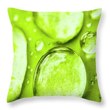In Natural Macro Throw Pillow