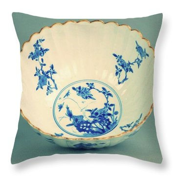 Extremely Nice And Rare Piece From The Kangxi Period Throw Pillow