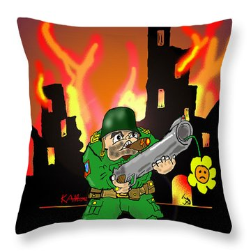 In Peaces Throw Pillow