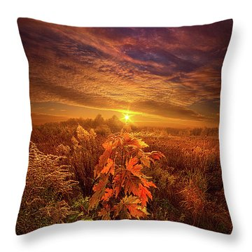 In Perfect Solitude There Is Grace Throw Pillow