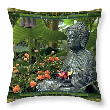 Throw Pillow featuring the photograph In Repose by Bell And Todd