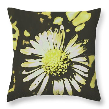 In Retro Spring Throw Pillow