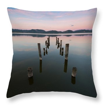 In Riva Al Lago Throw Pillow