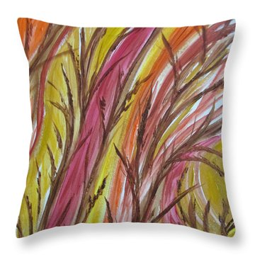 In Rushes Fall Throw Pillow by Sharyn Winters