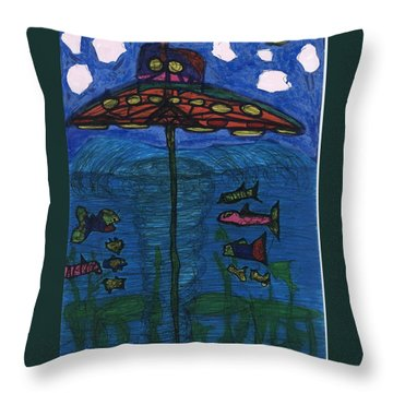 In Search Of Life Throw Pillow