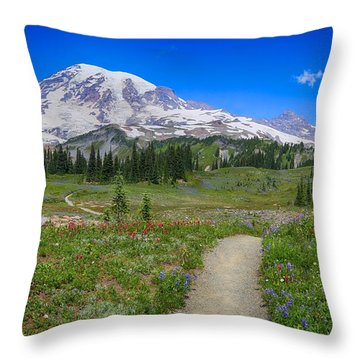 In Search Of Wildflowers Throw Pillow