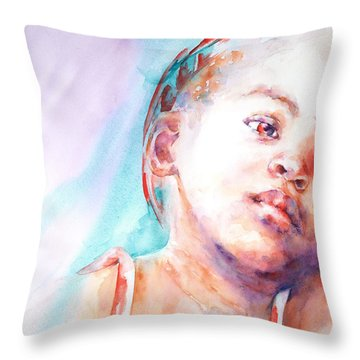 In Silence Throw Pillow by Stephie Butler