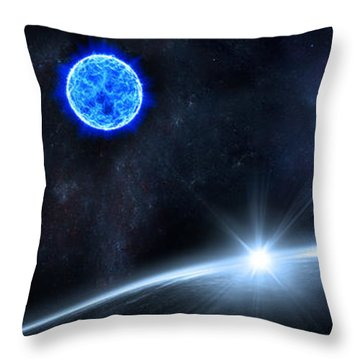 in Space Throw Pillow by Svetlana Sewell