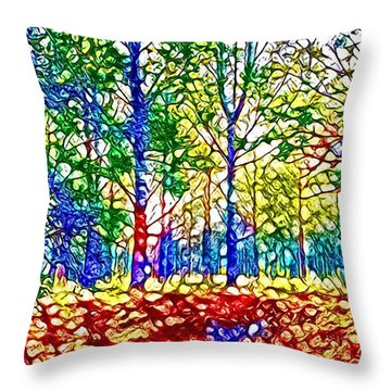 In Spite Off The Trees Throw Pillow