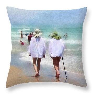 In Step With Life Throw Pillow