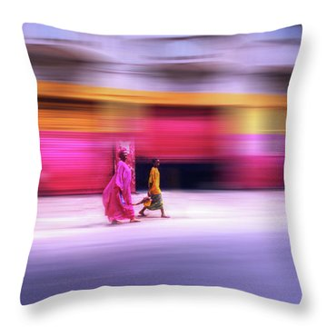 In Sync In Senegal Throw Pillow
