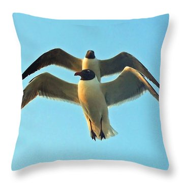 Throw Pillow featuring the photograph In Tandem At Sunset by Sandi OReilly