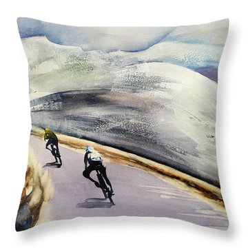 In The Alps Throw Pillow