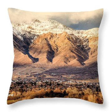 In The Arms Of Ben Lomond Throw Pillow