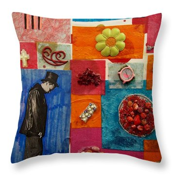 In The Attic Throw Pillow by Laurette Escobar