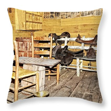 In The Barn Throw Pillow