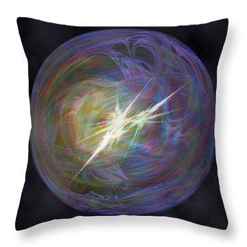 In The Beginning - Use Red-cyan 3d Glasses Throw Pillow by Brian Wallace