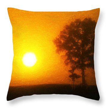 Throw Pillow featuring the painting In The Beginning by Dan Sproul