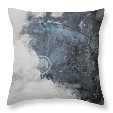 In The Beginning Throw Pillow by Elizabeth Carr
