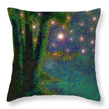 In The Beginning God... Throw Pillow